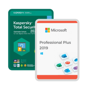 combo Office 2019 y Kaspersky Total Security